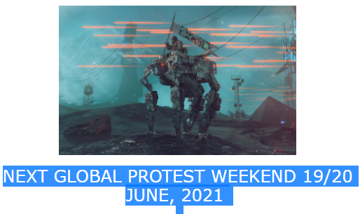 Global Protest day planned for 19/20 June 2021