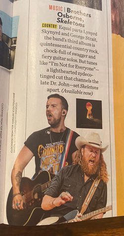 Brothers Osbourne - PEOPLE Mag Oct 26th