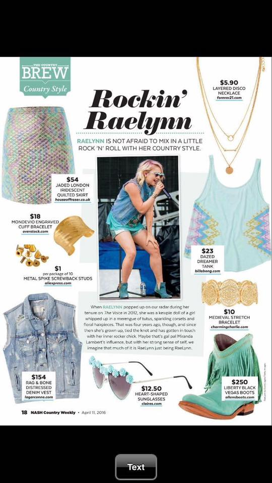 RAELYNN - COUNTRY WEEKLY