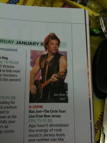 BON JOVI - ENTERTAINMENT WEEKLY
