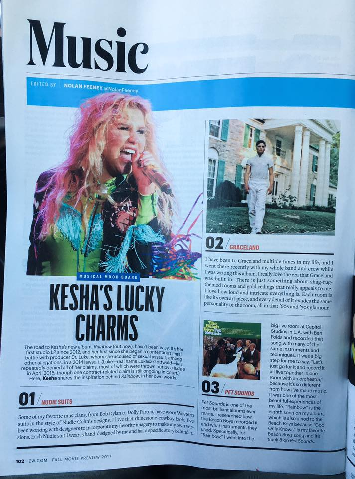KE$HA - ENTERTAINMENT WEEKLY