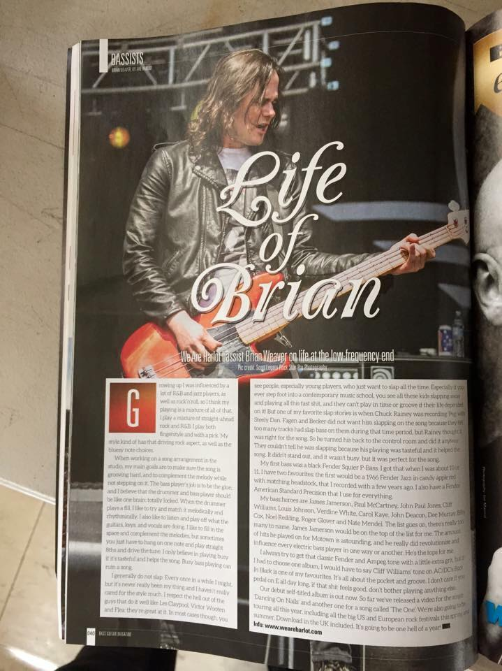 BRIAN WEAVER - BASS PLAYER MAG