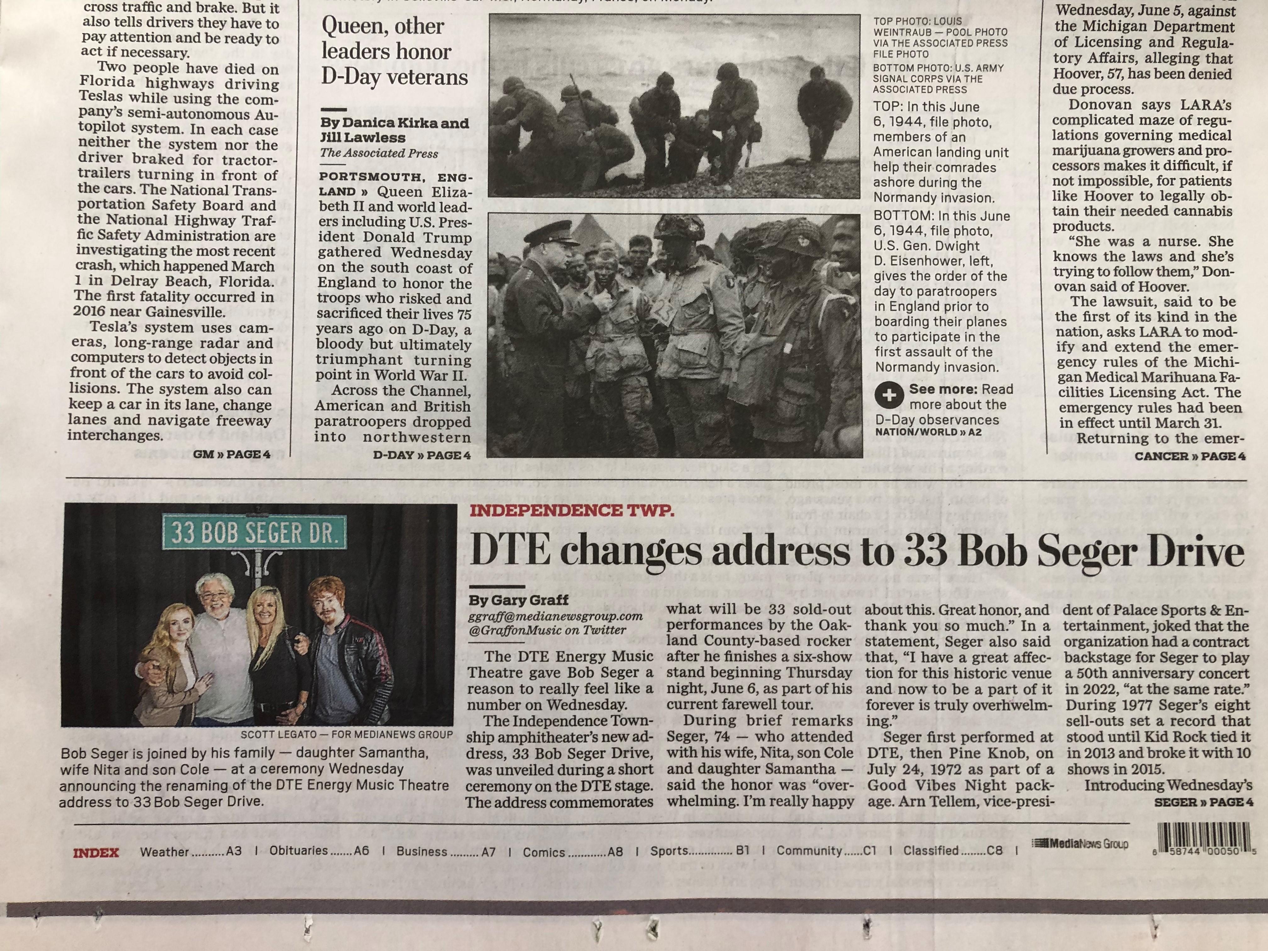 Bob Seger - Oakland Press