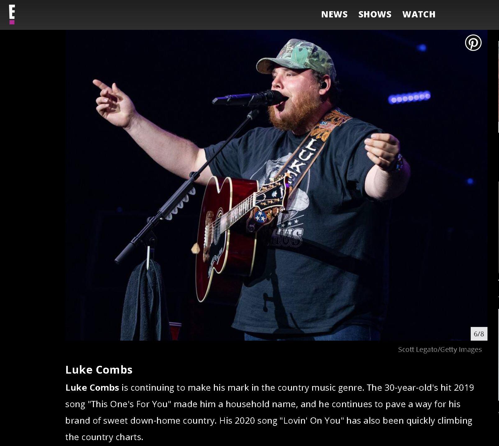 Luke combs - E-Online