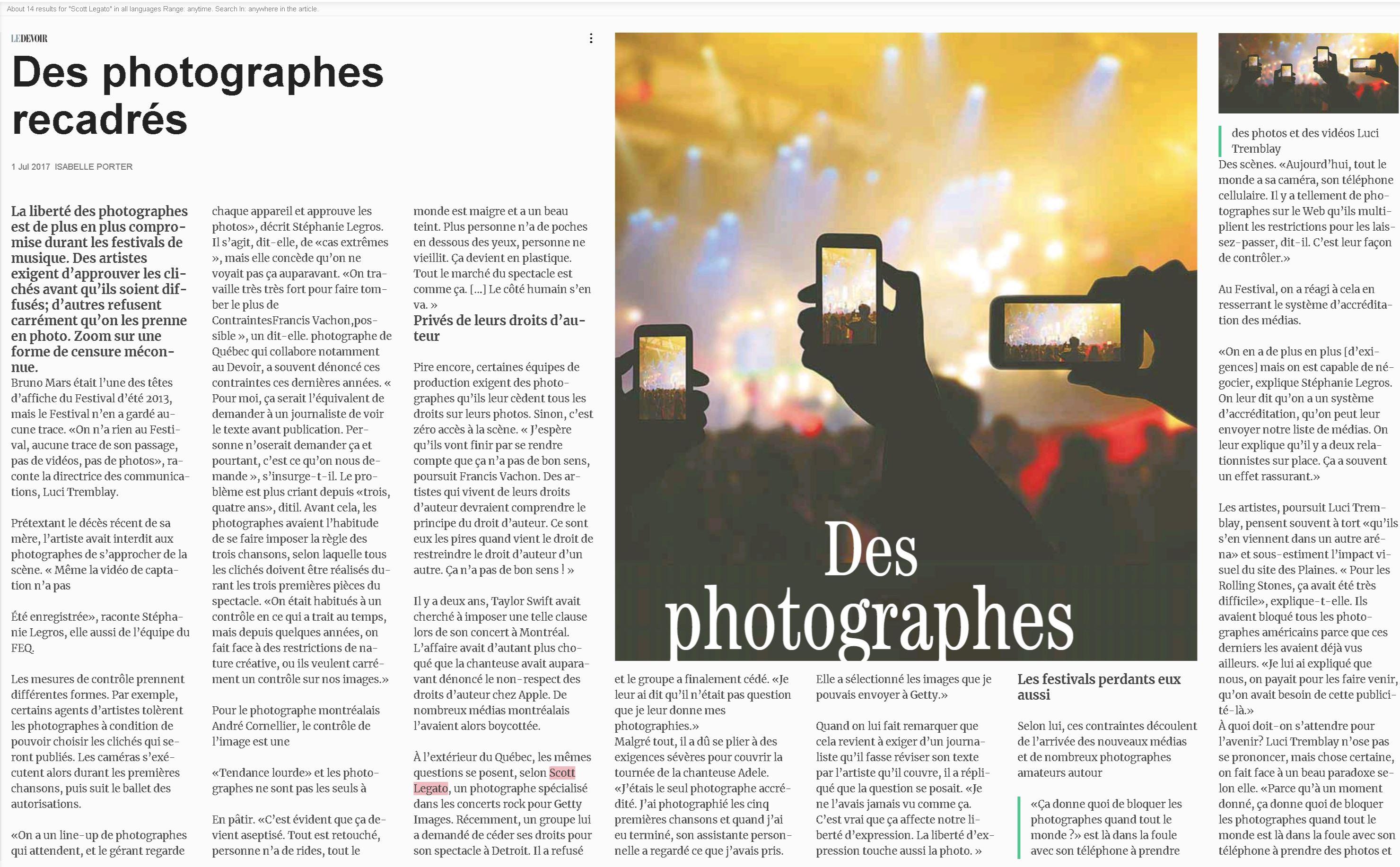Quebec Newpaper