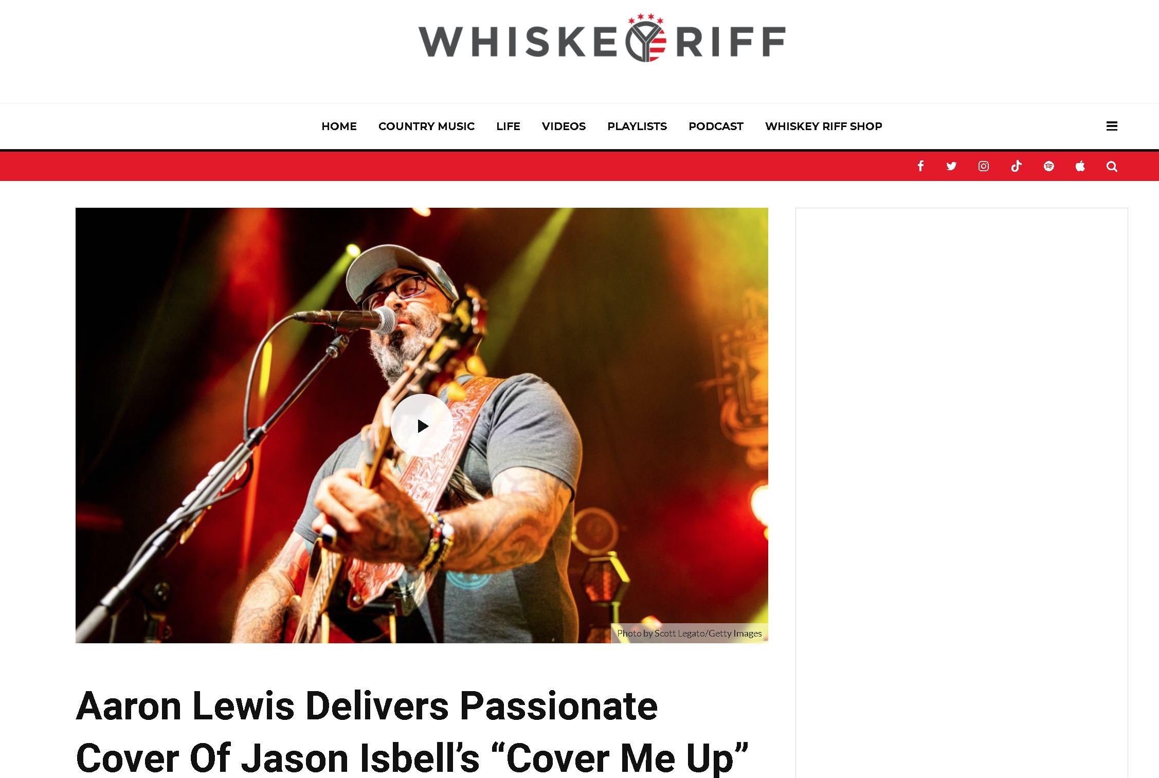Aaron Lewis - Whiskey Riff