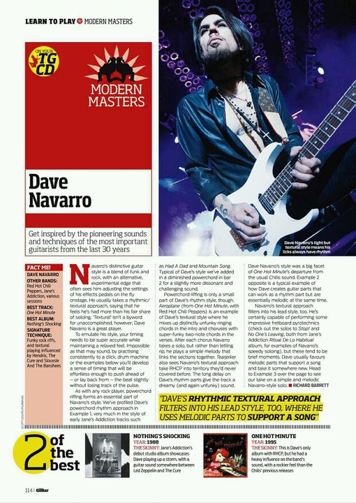 DAVE NAVARO - TOTAL GUITAR