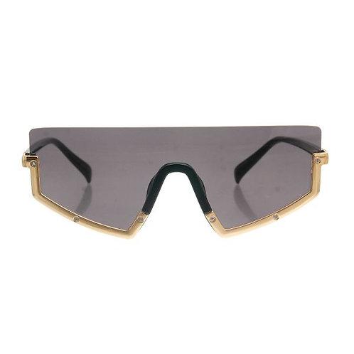 Brown Lens Visor Style Tortoiseshell Frame Sunglasses