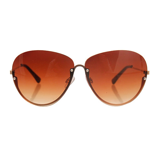 Brown Tint Outer Lens Cat Eye Sunglasses