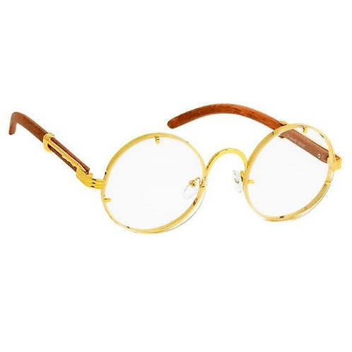 Round Gold Metal Retro Frame Sunglasses
