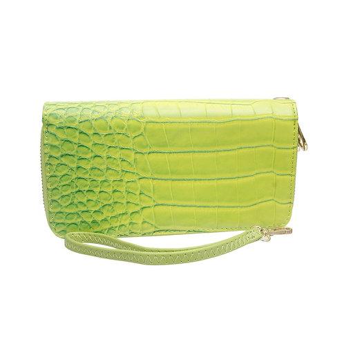 Green Alligator Leather Wallet