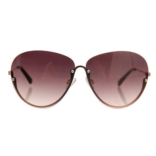 Black Tint Outer Lens Cat Eye Sunglasses