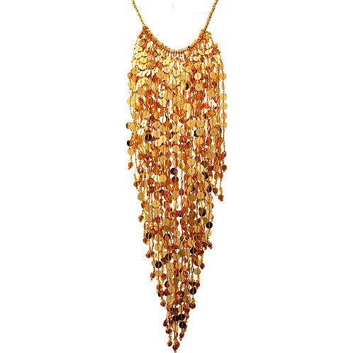Sequin Fringe Choker Necklace