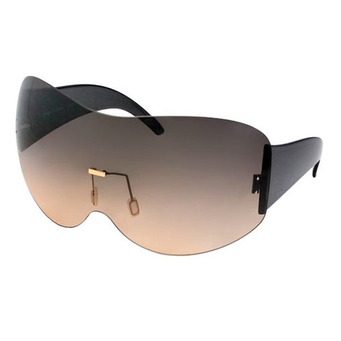 Oversized Square Shield Sunglasses