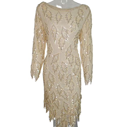 Vintage Sequin Beaded Cocktail Dress