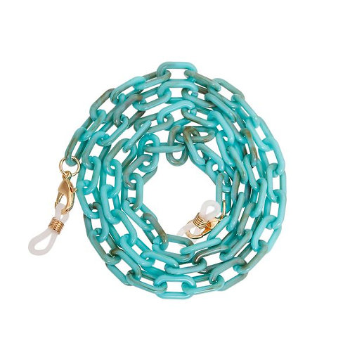 Turquoise or BrownResin Oval Link Face Mask Chain