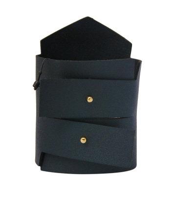 Black Vegan Leather Bracelet