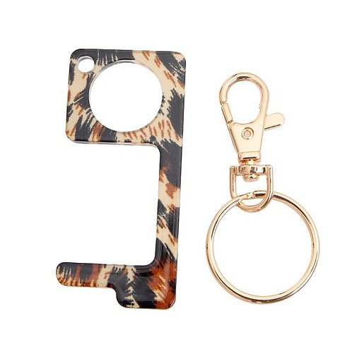 Acrylic Touchless Germ Free Tool Key Chain