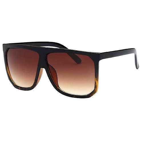 Brown Retro Oversized Square Sunglasses