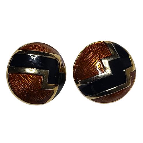 Vintage Bronze & Gold Earrings