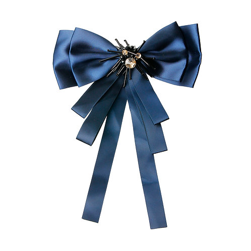 Shiny Royal Blue Bowtie Brooch