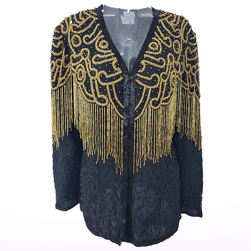 Vintage  Beaded Fringe Jacket
