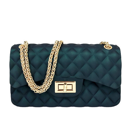 Green Quilted Jelly Handbag