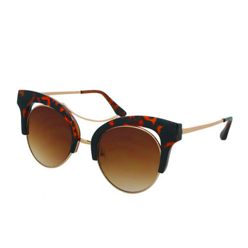 Tortoiseshell Open Frame Cat Eye Sunglasses