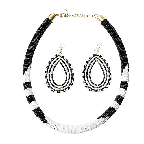 Bead Wrapped Tribal Necklace Set