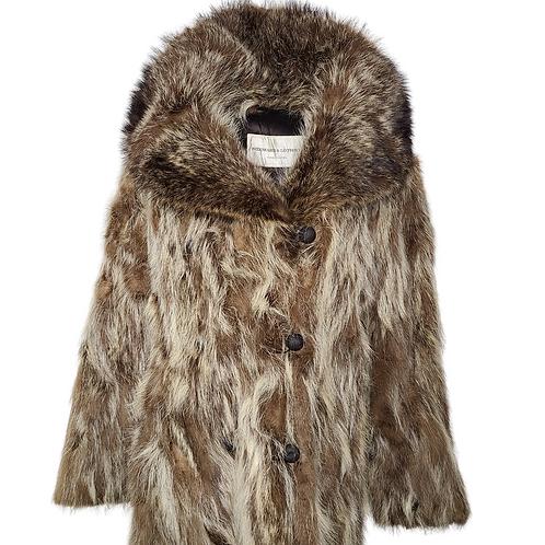 Genuine Raccoon Fur Coat
