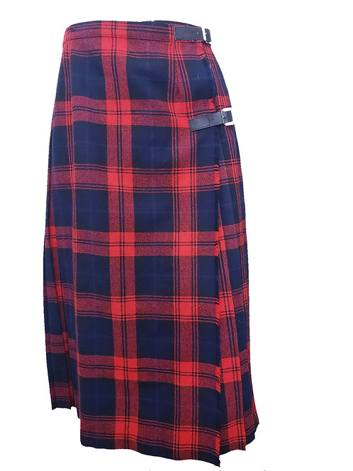 Vintage Plaid Wrap Skirt