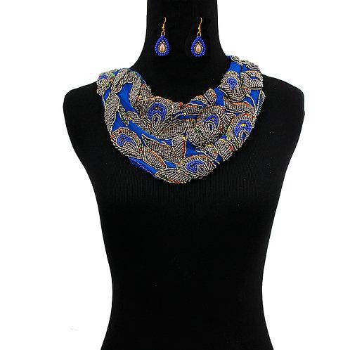 Handmade Chiffon Scarf Necklace Set