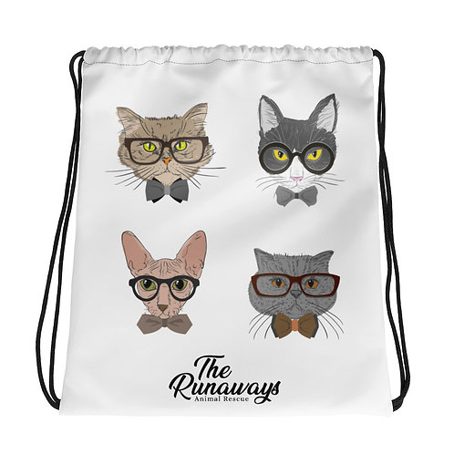 Drawstring bag - The Sophisticated Cat Collection