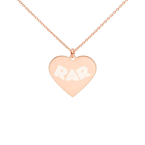 Engraved Silver Heart Necklace - The Runaways Animal Rescue
