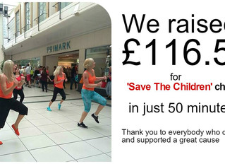 Zumba Flashmob Hits Burton on Trent - Save the Children Charity