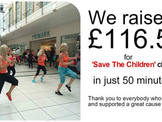 Zumba Flashmob Hits Burton on Trent - Save the Children Charity
