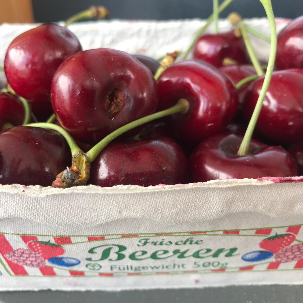 Cherries at local market