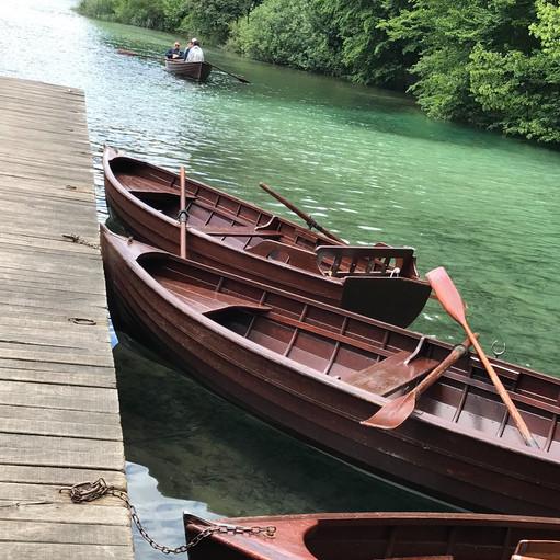 boats on a lake in Croatia