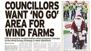 Councillors want 'No Go' area for Wind Farms