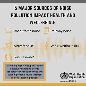wind turbine noise impacts health and well being WHO