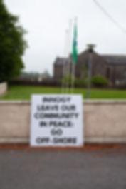 innogy windfarm protest knockanore waterford community church school
