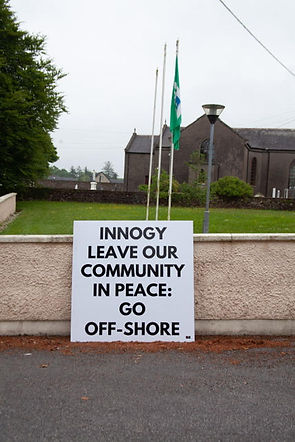 innogy windfarm protest knockanore waterford community church school