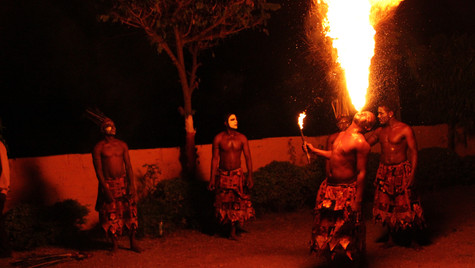 Siddi tribes during their everning performance