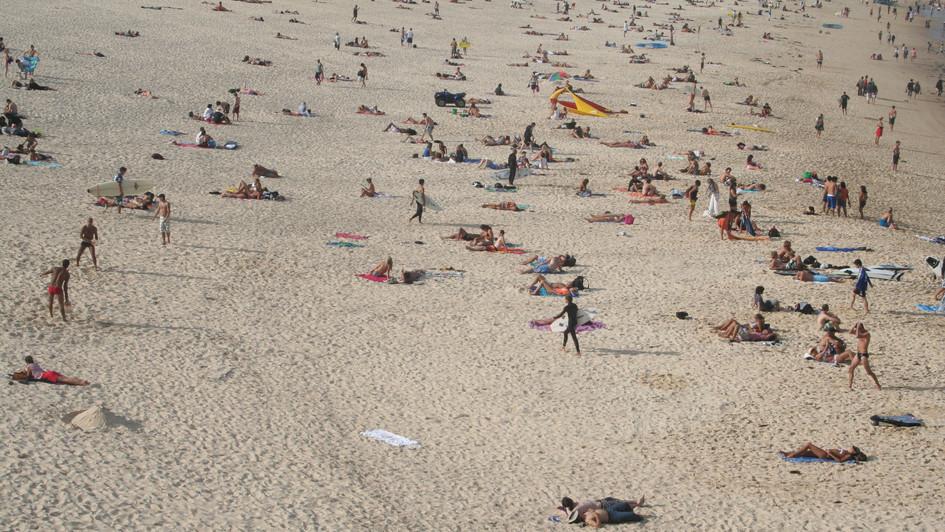 Bondi beach on a warm day