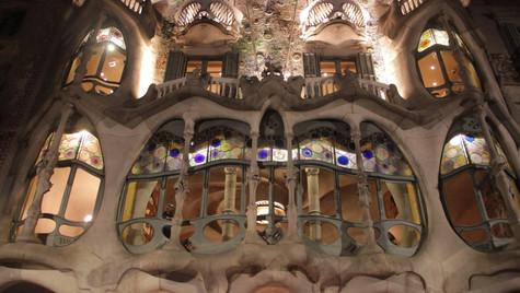Famous Casa Batllo at night