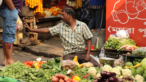 Street vegetable vendor in Kolkata