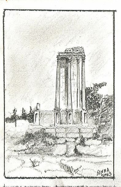 Ruins in Forum in Rome