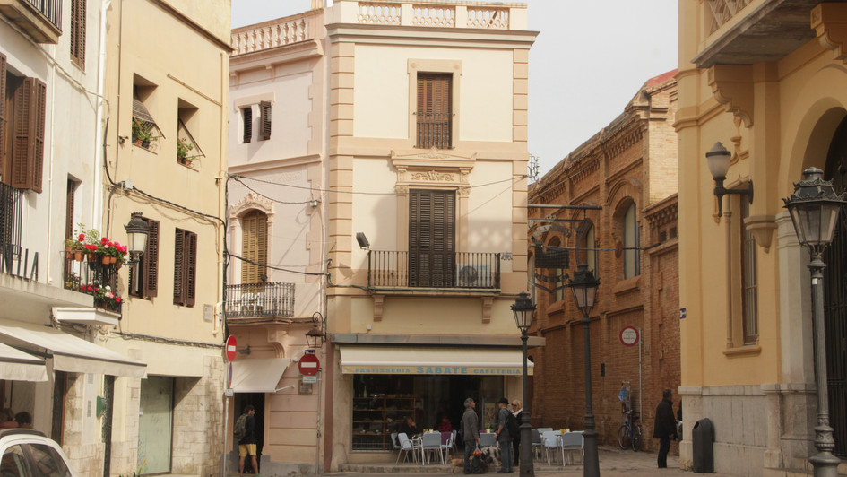Lanes in the Sitges town