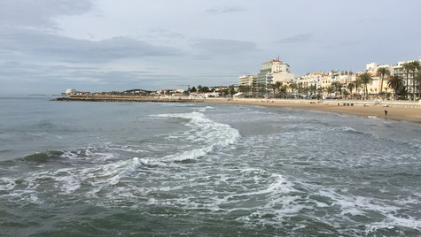 The Mediterranean by the Sitges shore