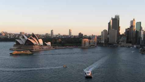 View from top of the Harbour Bridge